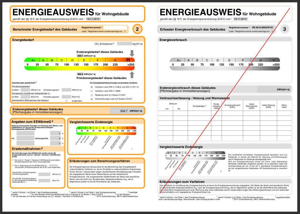 Energieausweis Bedarfsausweis Seite 2 & 3