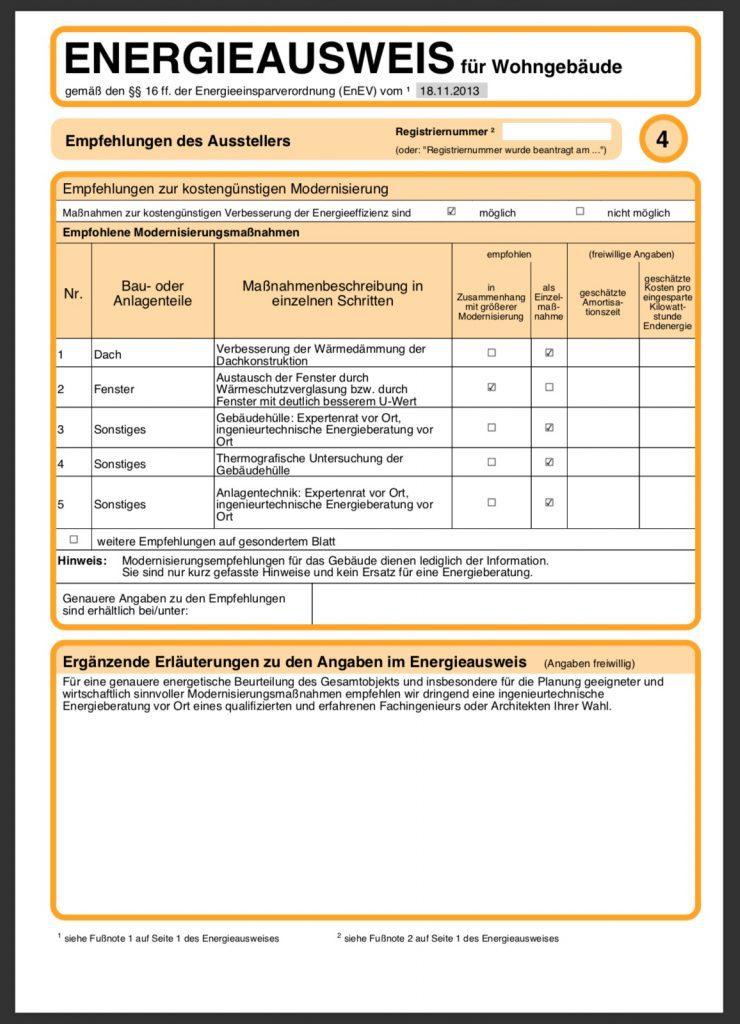 Energieausweis Bedarfsausweis Seite 4