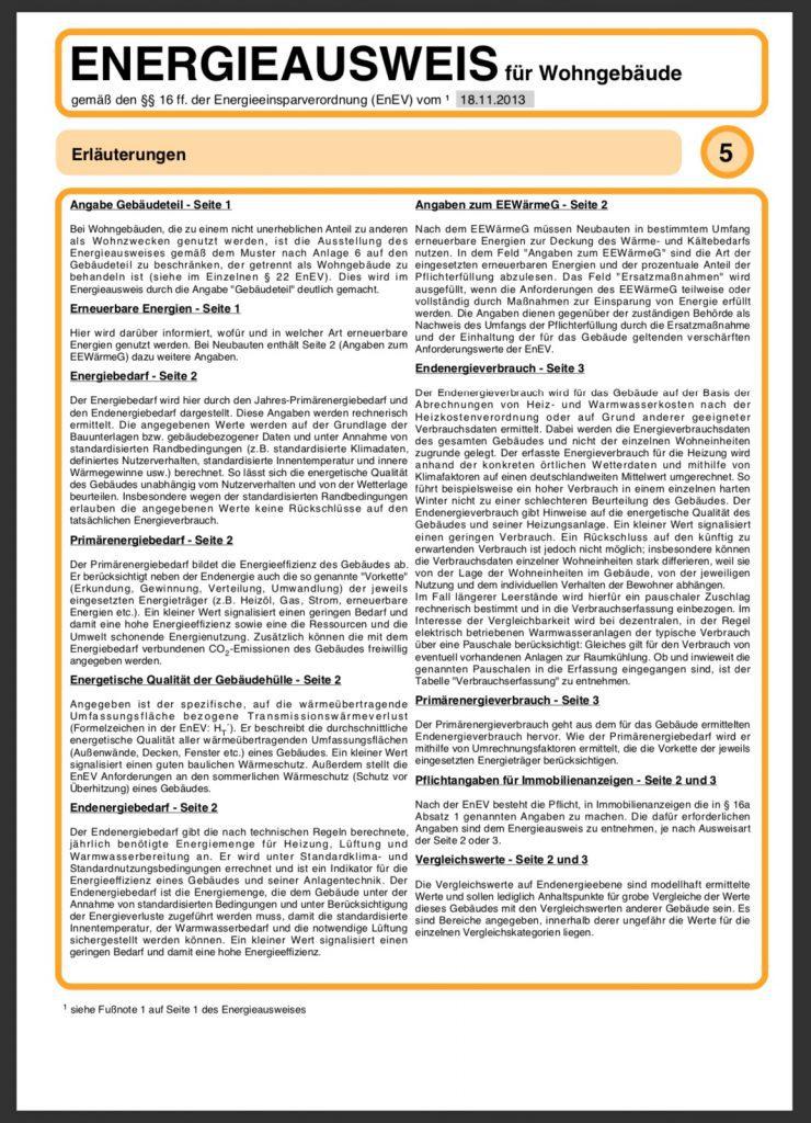 Energieausweis Bedarfsausweis Seite 5