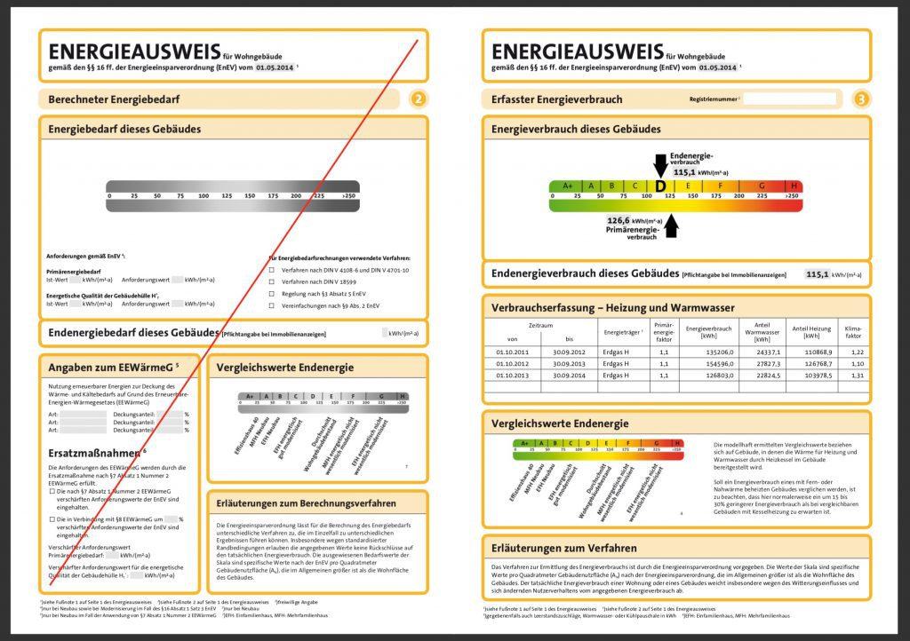 Energieausweis Verbrauchsausweis Seite 2 & 3