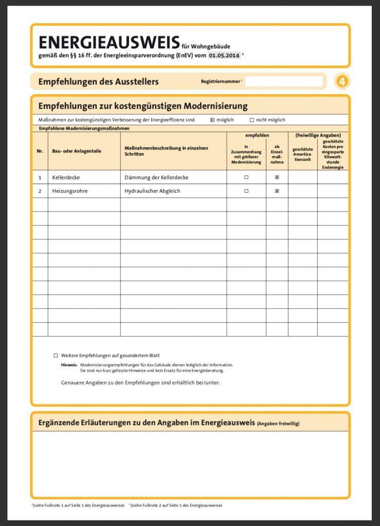 Energieausweis Verbrauchsausweis Seite 4