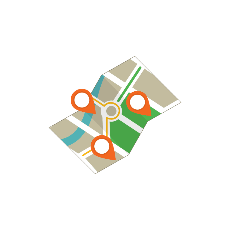 Umgebung Karte